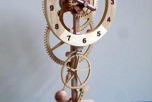 Houten tandwiel klokken