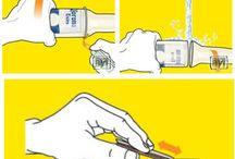 vasos con botellas