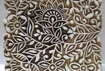 Indian carved wood stamps