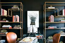 Black Walls - Home Decor / Black rooms don't have to be scary.  Get inspired by these beautiful, elegant spaces.