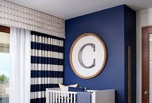 Boat theme nursery ideas / A selection of paints/wallpapers, cute products and furniture for a boat theme baby nursery