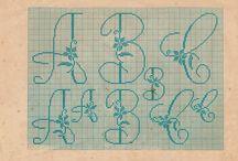 PATRONS - PATTERNS / abecedaris, lletres, dibuixos infantils, punt de creu, crochet,