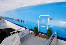 The coolest airplane apartment / Interior / Home Decor / Airplane / Apartment / Airbnb / KLM