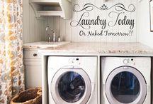 Laundry room closet