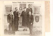 Delmar Public Library / This board is full of historical photos, events, and information about the Delmar Public Library!