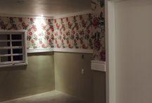 Tecido na parede / Decoração de ambientes