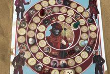 Das Affenspiel - ein traditionelles Brettspiel. Variation von: Das Gänsespiel