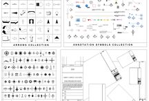 Annotation bundle collections / Download these 4 ANNOTATION Collections for the price of 2! This CAD drawing comprises; ARROWS COLLECTION; Over 45 different types of arrows. ANNOTATION SYMBOLS COLLECTION; Over 40 symbols including section lines and elevation arrows. NORTH ARROWS COLLECTION; Over 90 north arrow CAD symbols. TITLE BLOCKS COLLECTION; A4 to A0 title blocks in protrait and landscape orientations.