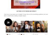 Blogging / Blogging tips, social media