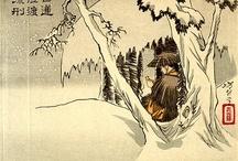 ❝hourglass❞ thematic / chinese paintings, asian art