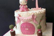 Gumpaste castle cake