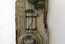 drift woodBottle wall