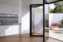 Windows / Windows are no longer the comfort / energy efficient weak point they once were. Window placement, sizing, and specification are critical to energy efficiency. Glass walls can bring the outside in. Sliding or folding glass walls create flexible inside outside spaces and expand your living room outside. Styling will alter the look and feel of your house so choose with care.  Good for energy efficient, environmentally friendly, sustainable living.
