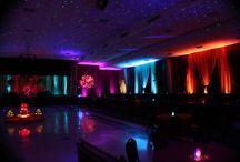 Bahia Shrine Garba And Wedding Lighting Ideas / Beautiful July wedding at the shrine in Orlando. Star Projection, monogram lighting, uplighting, spotlighting, dj,  and decor provided by www.orlandodjandlighting.com
