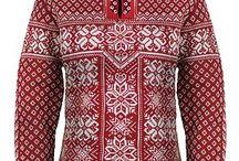 norské vzory / barevné svetry