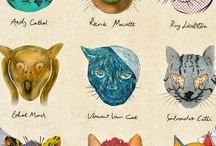 Cats in Art / Artists' depictions of cats in art from fine art and photography to cartoons.