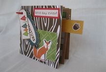 "Mini-Album Outdoor fun / by me for DT L'AtelierScrap. Seguimos en la montaña ….y esta vez lo hacemos a partir de una base de cartón de patronaje y utilizando los papelesde la colección Happy Camper de Echo Park Paper.  ""Hand in hand with the Atelier Scrap, follow the mountain …. and this time do it from a cardboard base of patronage and recently the collection of papers using Happy Camper from Echo Park Paper."""