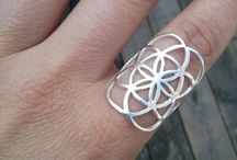Sacred geometry rings