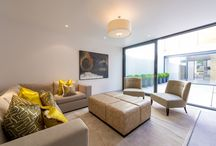 New showhouse, showhome pictures / This is our latest show house, a cool new build in West London, bright, crisp colours, simple pieces and clever use of space.