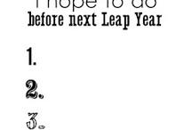 Leap Year / A Leap year board