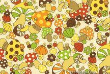 Retro Mushrooms / by Holly Traffas