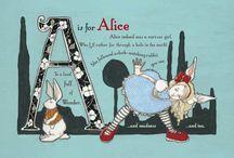 Alice in W: Alphabet / Alice in wonderlan, wonderland alpjabet