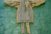 anjel drevený art