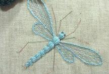 Insectos bordado