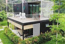 Maisons créées à partir d'un container