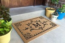 Natural - Monogrammed Classic Coir Doormat / Made in the USA.  5/8 inch thick. Great for low thresholds. Best used in a dry protected entrance way. Electrostatically flocked designs. Manufactured in the USA from natural coir fiber bristles. Superior brush action to get the dirt off your shoes and out of your house.