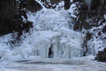 Les Combrailles sous la neige / Paysage des Combrailles sous la neige