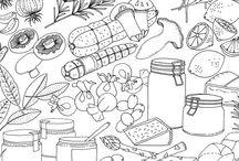kuchynske ilustrace