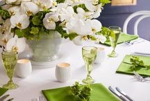 blanc et vert anis
