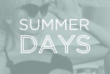 Summer Days / Who doesn't love all that summer has to offer? Here are what fill our summer days at Anyi Lu.