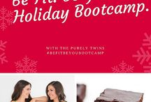 Be Fit. Be You. Holiday Bootcamp / A FREE 5 week holiday bootcamp to keep you happy, healthy, and balanced this holiday season. Follow along this board for workouts, recipes, and inspiration. Keep up with us on instagram @fittwinsworkouts and @purelytwins / by Purely Twins