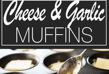 cheese and garlic muffins
