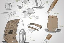 Industrial design sketches