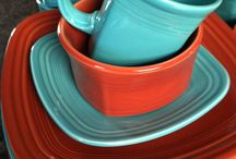{ Fiesta Dishes } / FIESTA®, America's favorite dinnerware, was introduced by The Homer Laughlin China Company with great fanfare at the Pittsburgh China & Glass Show in January, 1936. / by Pam Smith