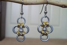 Chainmaille Jewelry / Beautiful, intricate necklaces, bracelets, earrings and other jewelry items made from dozens (or hundreds) of intricate chainmaille links.