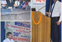 Allahabad Workshop / StepUp IAS director Mr. Ajay Mishra delivered his thought on the importance of the social science in civil services at Ewing Christian College, Allahabad at Ewing Christian College