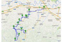 """#Itinerari / itinerari e viaggi racchiusi con una """"matita"""" su una carta stradale o su una mappa digitale"""