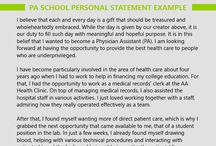 PA personal statement examples (pastatement) on Pinterest