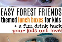 Lunch boxes and snacks / Ideas to put together kids lunch boxes and on-the-go snacks