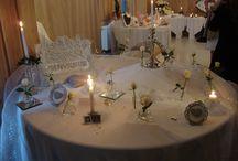 DECORATION  MARIAGE / décoration faite main pour mariage . Fait sur mesure si on le désir selon vos couleurs. Travail fait avec gout et minutie .