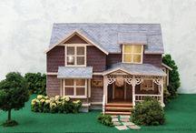 "1/4 Scale Dollhouse - The Crockett House / 1/4"" Quarter Scale Dollhouse Miniature The original Allison Crockett Victorian house was built in 1893 for the Allison C. Crockett family in Chula Vista, CA."