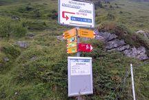 Alpine signposts