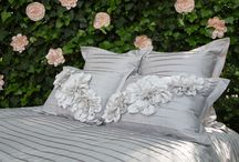 Floral Belles: Customize Your Bedding with Gorgeous Fabric Flowers / Create a bedding set that is one of a kind and forever changing, by adorning your bedding with the most ethereal fabric flower pins.