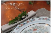 Eventi Gaia Details / Details napkins ribbon placecards escort cards