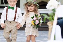 Wedding dress kids / Wedding/ childerens/ flower girl/ flower crown/ here come the bride www.blumig-heiraten.de