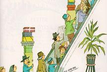"""Maurice Sendak / Maurice Sendak (1928-2012) is one of my favorite illustrators so I decided I'd treat myself to a special board.  Né dans une famille d'émigrés juifs polonais Son enfance, ses racines seront déclinées sous différentes formes dans ses histoires.  En 1970, il a reçu le """"Prix Hans Christian Andersen"""", suprème récompense pour l'ensemble de son œuvre. Max et les Maximonstres ont changé l'illustration pour enfants. Merci !  / by Angharade Les Petits Cailloux"""